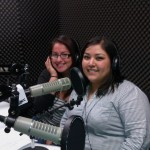 Stacey &amp; Alejandra getting ready to talk about the impact of the Club on Canoga Park High School.